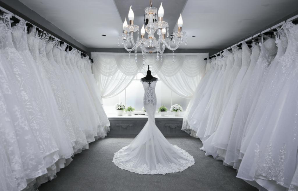 Photo of wedding dresses in Scottsdale - a white dress in bridal shops in scottsdale, az